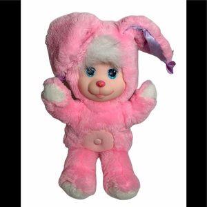 1990 Magic Nursery Pets Pink Bunny Plush Mattel